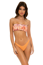 SKINS - Free Form Bandeau & High Leg Bottom • Coral Snake