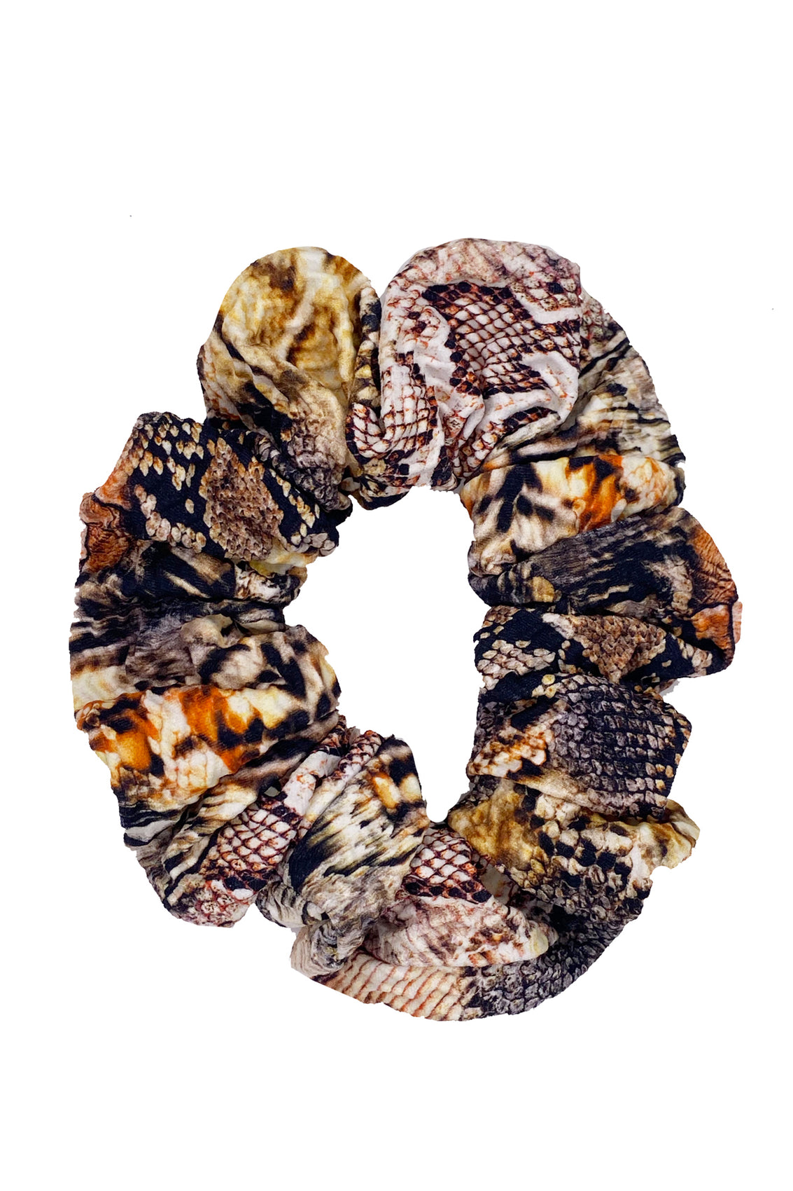 SKINS - Scrunchie • Natural Snake