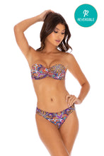 TIKI BABE - Underwire Push Up Bandeau Top & Banded Full Bottom • Multicolor