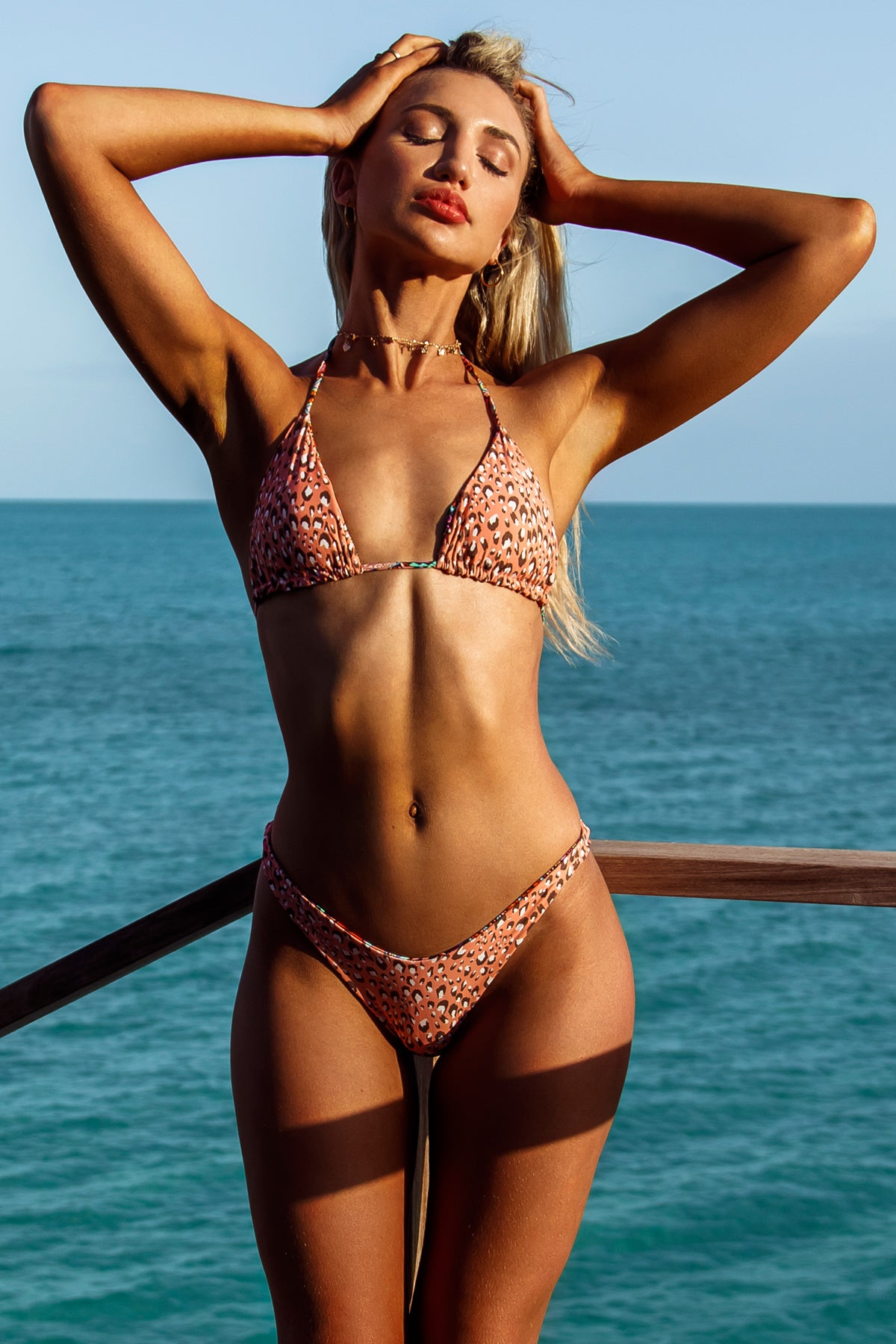 TIKI BABE - Triangle Top & High Leg Bottom • Multicolor