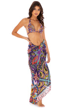 TIKI BABE - Triangle Halter Top & Pareo • Multicolor