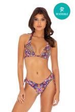 TIKI BABE - Triangle Halter Top & Drawstring Side  Bottom • Multicolor
