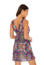 TIKI BABE - V Neck Short Dress • Multicolor