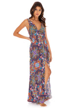 TIKI BABE - V Neck Long Dress • Multicolor