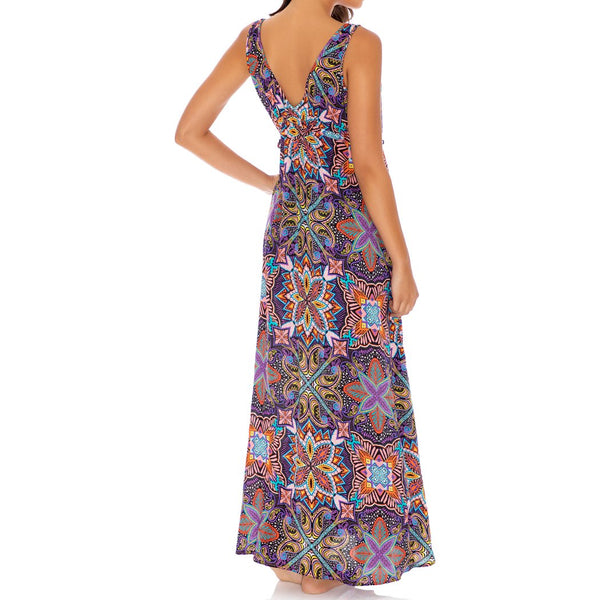 TIKI BABE - V Neck Long Dress