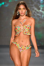 WILD FLOWER - Bandeau Top & Banded Moderate Bottom • Multicolor Runway
