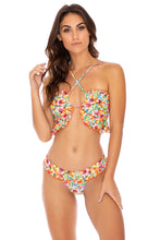 WILD FLOWER - Bandeau Top & Banded Moderate Bottom • Multicolor
