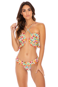 WILD FLOWER - Bandeau Top & Banded Moderate Bottom • Multicolor (3958774497382)
