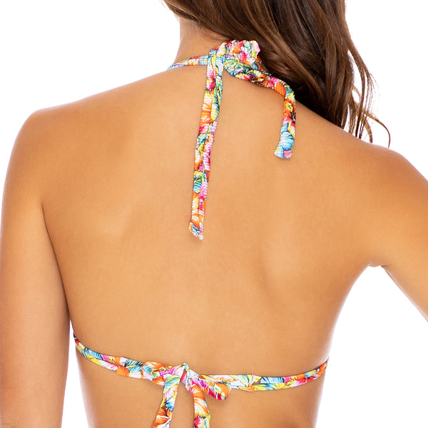 WILD FLOWER - Triangle Halter Top