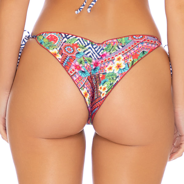 LULI TRIBE - Wavey Ruched Back Tie Side Bottom