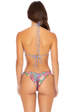 LULI TRIBE - Triangle Top & Wavey Ruched Back Tie Side Bottom • Multicolor