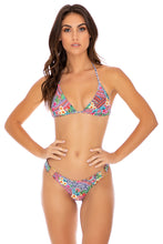 LULI TRIBE - Triangle Top & Wavey Ruched Back  Bottom • Multicolor