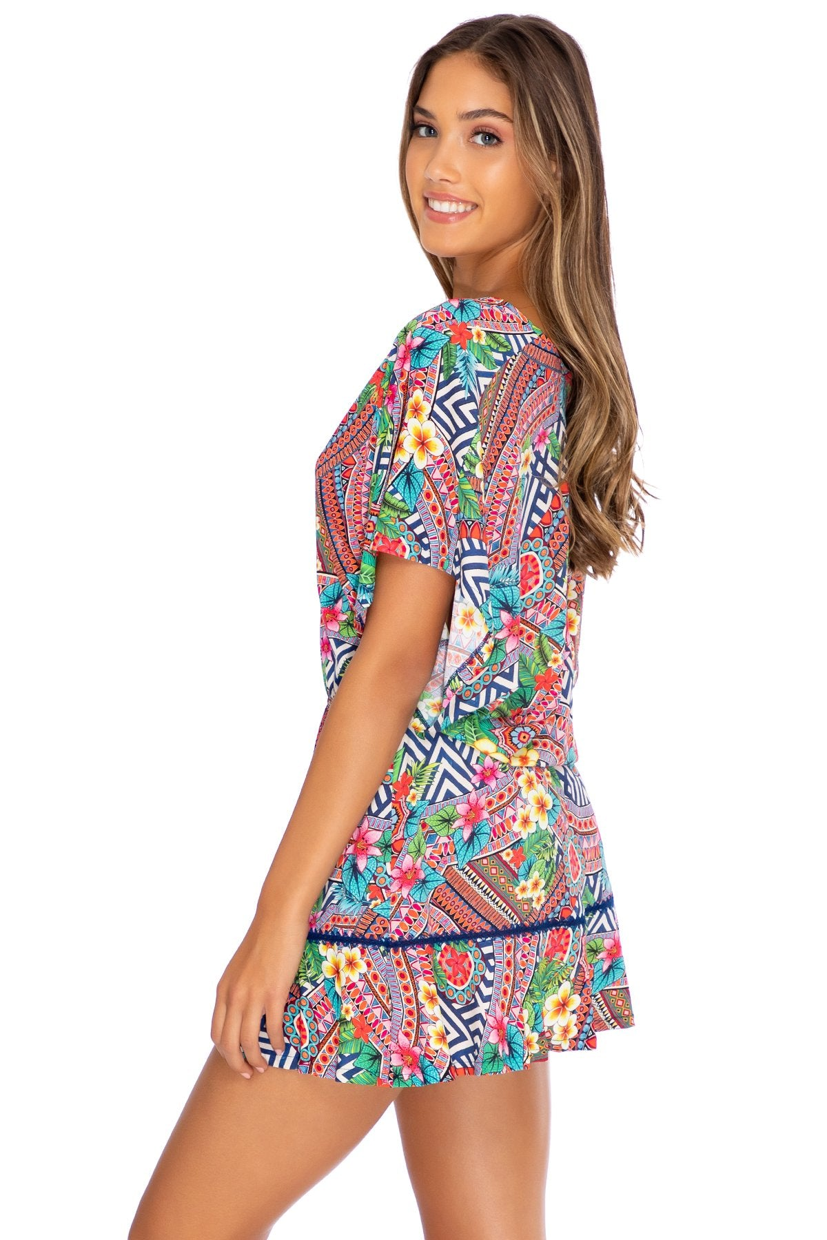 LULI TRIBE - Playera Ruffle Dress • Multicolor