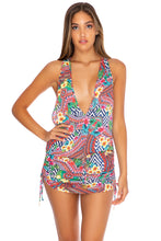 LULI TRIBE - T Back Mini Dress • Multicolor