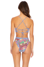 LULI TRIBE - Underwire Top & High Leg Banded Waist Bottom • Multicolor Runway