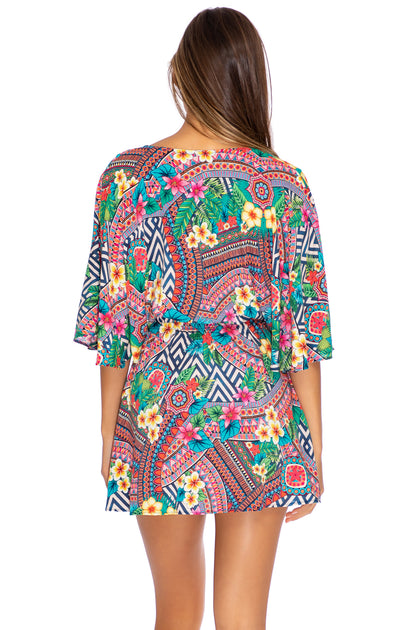 LULI TRIBE - Laced Up Short Dress • Multicolor Runway