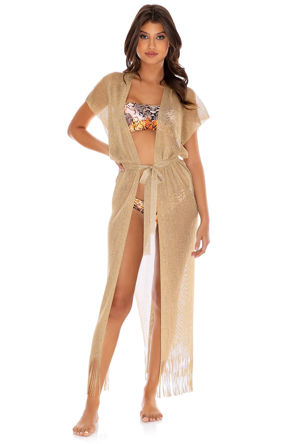 GOLDEN QUEEN - Long Caftan • Gold Rush