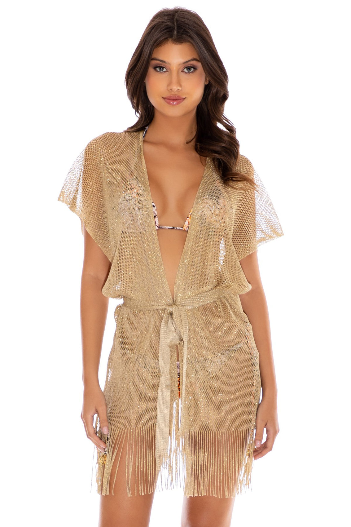 GOLDEN QUEEN - Short Caftan • Gold Rush