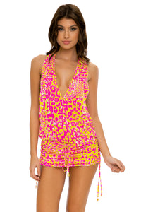 WILD SWEETHEART - T Back Mini Dress • Multicolor