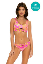 WILD SWEETHEART - Open Front Bralette & Tie Front Brazilian Ruched Bottom • Multicolor