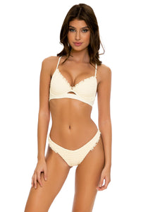 DESERT STAR - Underwire Top & High Leg Bottom • Ivory