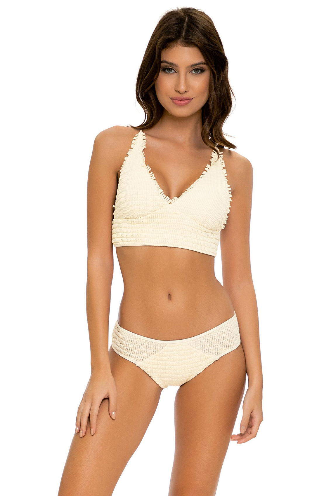 DESERT STAR - Cross Back Bustier Top & Full Bottom • Ivory