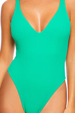 PLAYA VIBES - V-neck One Piece Bodysuit • Mojito