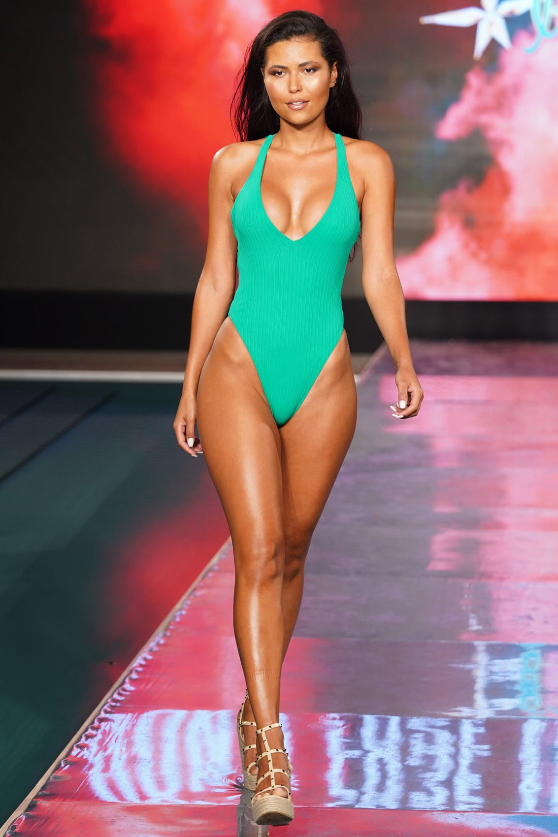 PLAYA VIBES - V-neck One Piece Bodysuit • Mojito Runway