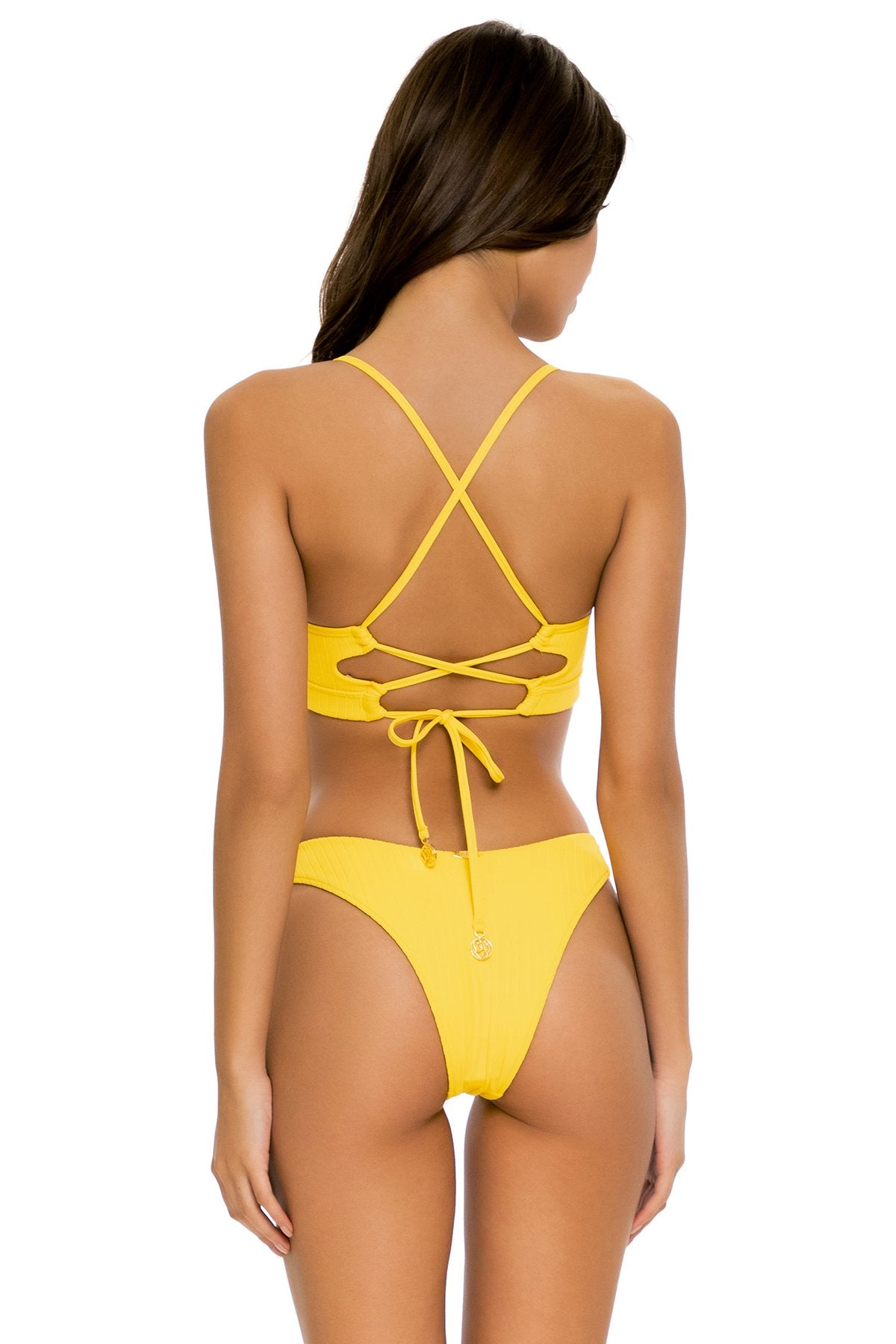 PLAYA VIBES - Underwire Top & High Leg Bottom • Yellow