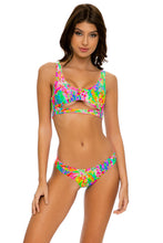 LEMONADE RUSH - Open Front Bralette & Seamless Wavey Ruched Back Bottom • Multicolor