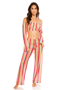 MUSE FEELS - Tropicana Shoulder Top & Beach Pant • Multicolor