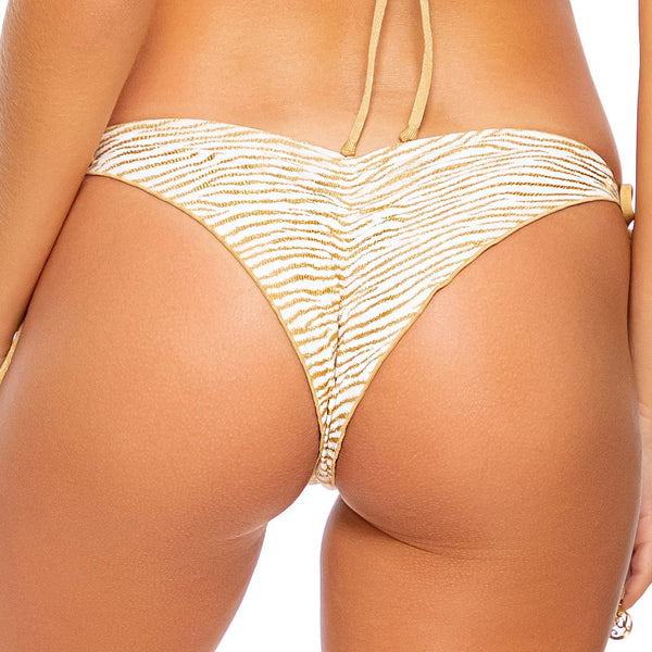 GODDESS ALLURE - Wavey Ruched Back Tie Side Bottom