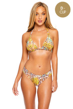 DIOSA SALVAJE - Triangle Halter Top & Seamless Full Ruched Back Bottom • Multicolor