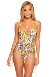 DIOSA SALVAJE - Peek-a-boo Underwire One Piece Bodysuit • Multicolor