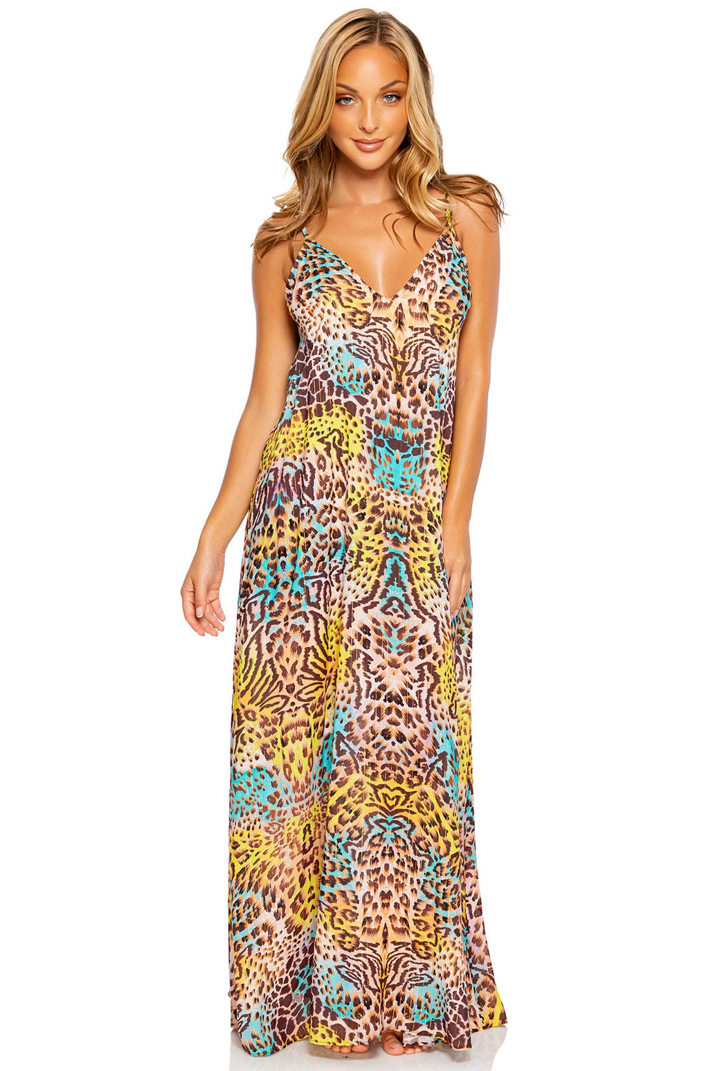 DIOSA SALVAJE - Spaghetti Strap Long Dress • Multicolor