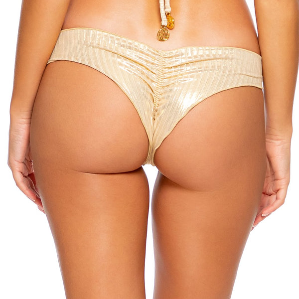 GOLD DIPPED - Wavy Ruched Back  Bottom