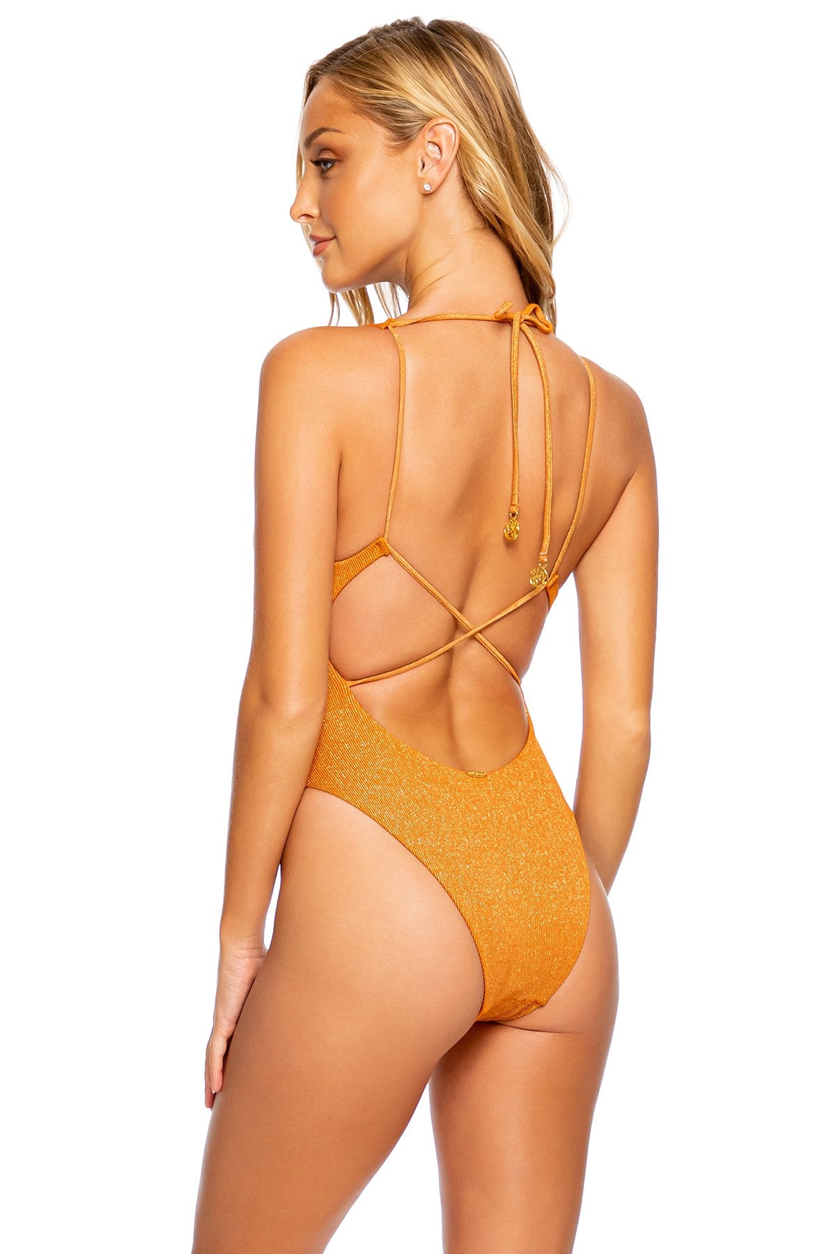 LULI DIVA - V Neck One Piece Bodysuit • Bronze