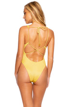 LULI DIVA - V Neck One Piece Bodysuit • Sunset Gold