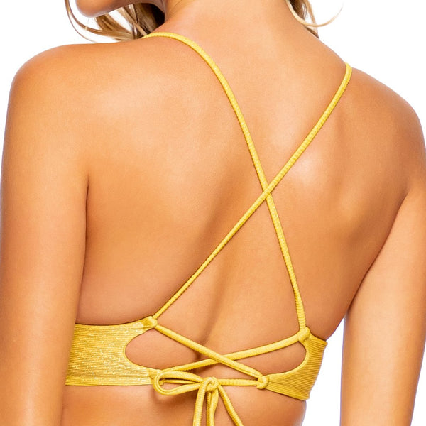 LULI DIVA - Cross Back Bustier Top