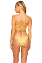 LULI DIVA - Underwire Top & High Leg Brazilian Bottom • Sunset Gold