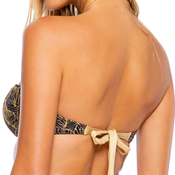 DREAMWEAVER - Gold V Ring Bandeau Top