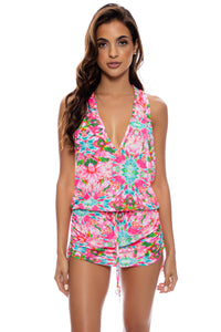 OCEAN DRIVE EUPHORIA - T Back Mini Dress • Multicolor