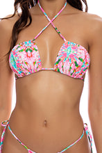 OCEAN DRIVE EUPHORIA - Multiway Scrunched Cup Bandeau & Seamless String Brazilian Tie Side • Multicolor