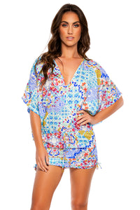 AY QUE CUTE! - Cabana V Neck Dress • Multicolor