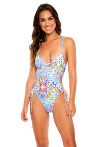 AY QUE CUTE! - Peek A Boo Underwire One Piece Bodysuit • Multicolor