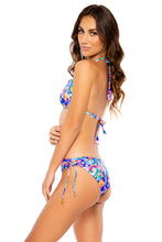 WATER BLOSSOMS - Triangle Halter Top & Drawstring Side Full Bottom • Multicolor