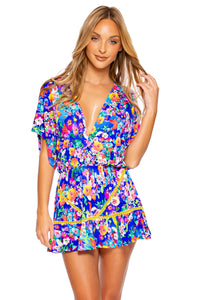 WATER BLOSSOMS - Playera Ruffle Dress • Multicolor