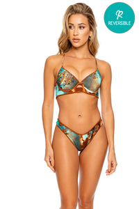 SWEET EUPHORIA - Underwire Top & High Leg Brazilian Bottom • Multicolor