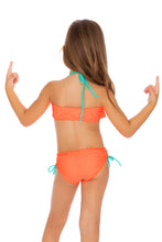 PARADISE - Cascade Halter Top Ruched Back Bikini • Hot Mess