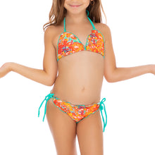 FIESTA DE FLORES T - Wavey Triangle Top Ruched Back Tie Side Bikini